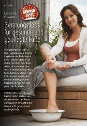 Beratungs tipps für gesunde und gepflegte Füße - PTAheute