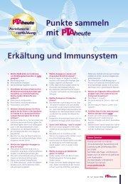 Punkte sammeln mit Erkältung und Immunsystem - PTAheute