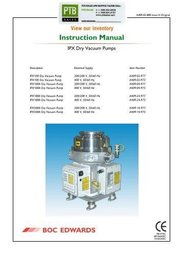 IPX Dry Vacuum Pumps - PTB Sales