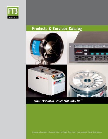 Products & Services Catalog - PTB Sales