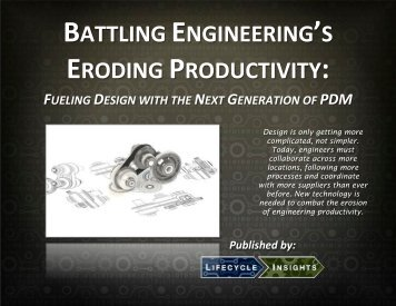 BATTLING!ENGINEERING'S!! ERODING!PRODUCTIVITY:!! - PTC.com