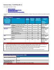Hardware Notes - Pro/Intralink 3 - PTC.com