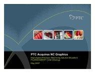 NC Graphics Acquisition Briefing - PTC.com