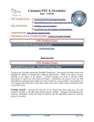 Customer PTC E-Newsletter - PTC.com