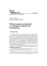 5. Polityka oparta na klastrach w wybranych krajach Unii Europejskiej