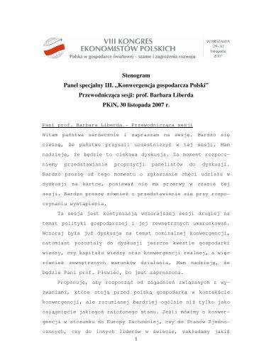 Konwergencja gospodarcza Polski - Polskie Towarzystwo ...