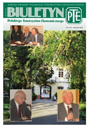 Biuletyn 3-2010.qxd - Polskie Towarzystwo Ekonomiczne