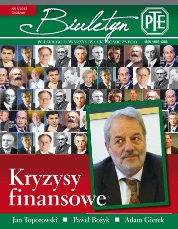 Biuletyn - Polskie Towarzystwo Ekonomiczne