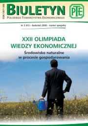 Biuletyn PTE nr 3/2009 - Polskie Towarzystwo Ekonomiczne
