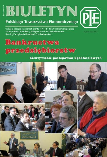 BIULETYN 2013.indb - Polskie Towarzystwo Ekonomiczne