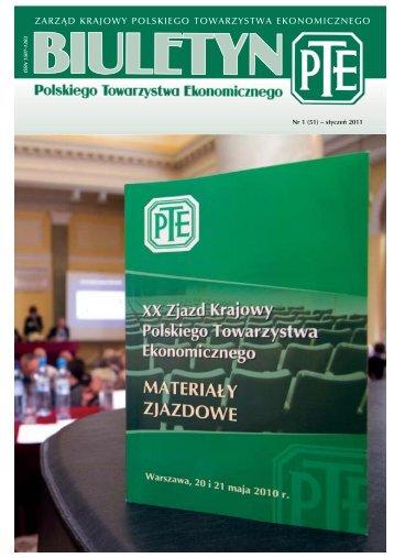 zarząd krajowy polskiego towarzystwa ekonomicznego