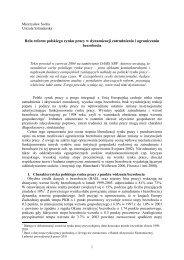 Rola reform polskiego rynku pracy w dynamizacji zatrudnienia i ...