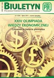 Biuletyn PTE nr 4 (54) - lipiec 2011 - Polskie Towarzystwo ...