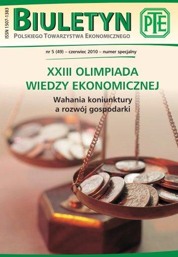 """Biuletynie PTE"""" nr 5 – czerwiec 2010 r - Polskie Towarzystwo ..."""