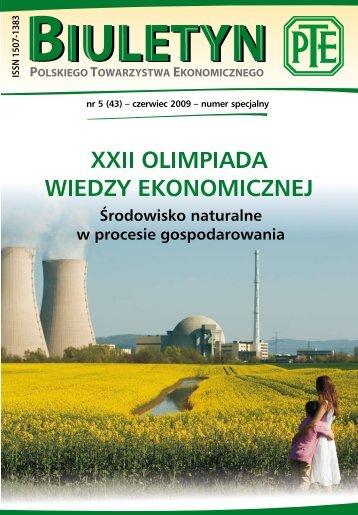 Biuletyn PTE nr 5/2009 - Polskie Towarzystwo Ekonomiczne