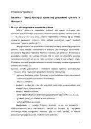 Założenia i rozwój koncepcji społecznej gospodarki rynkowej w ...