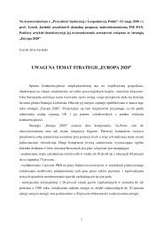 """Uwagi na temat strategii """"Europa 2020"""", Leszek Jerzy Jasiński"""