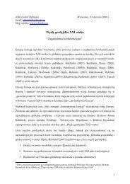 Węzły gordyjskie XXI wieku Zagadnienia konferencyjne