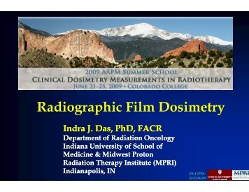 Radiographic Film Dosimetry