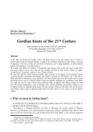Gordian Knots of the 21st Century
