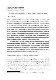 Krzysztof Cichy, Krzysztof Malaga Katedra Ekonomii Matematycznej ...