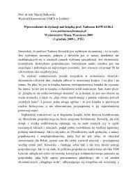 Prof. dr hab. Maciej Bałtowski Wydział Ekonomiczny UMCS w ...