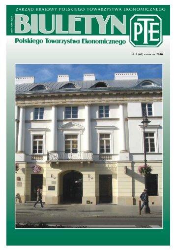 Biuletyn 2-2010 - kolor.qxd - Polskie Towarzystwo Ekonomiczne