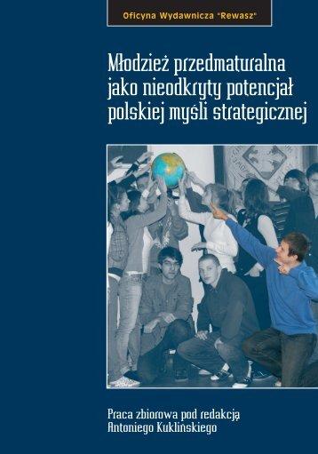 """""""Młodzież przedmaturalna jako nieodkryty potencjał polskiej myśli ..."""