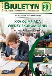 Biuletyn PTE nr 4 - Polskie Towarzystwo Ekonomiczne