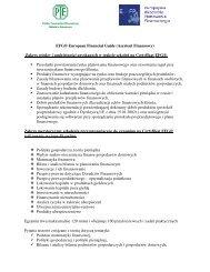 EFG® European Financial Guide (Asystent Finansowy) Zakres ...