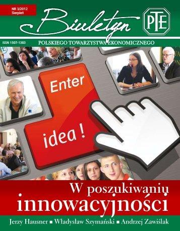 W poszukiwaniu - Polskie Towarzystwo Ekonomiczne