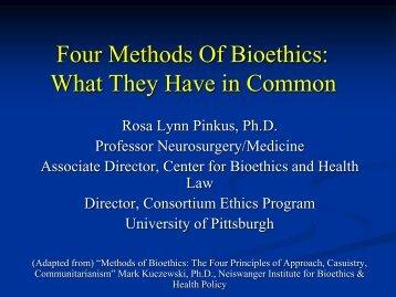 Four Methods of Bioethics