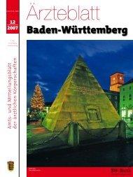 Ärzteblatt Baden-Württemberg 12-2007 [PDF] - Landesärztekammer ...