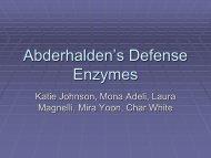 Abderhalden's Defense Enzymes