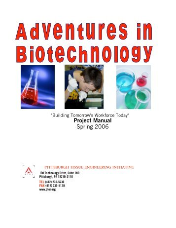 Project Manual Spring 2006 - Pittsburgh Tissue Engineering Initiative