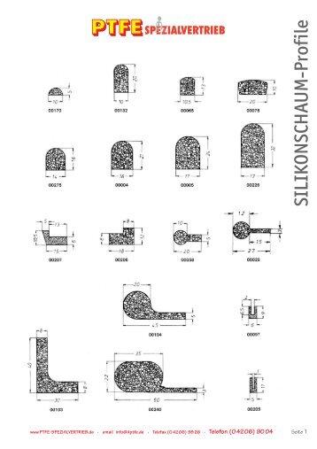 SILIKONSCHAUM-Profile - PTFE Spezialvertrieb
