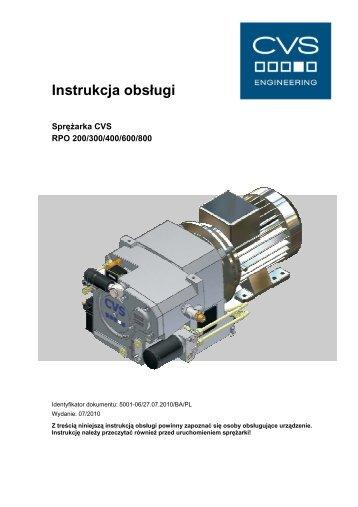 Instrukcja obsługi - CVS Engineering - Compressors