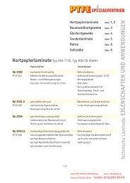 Laminate-Eigensch+Anwend - PTFE Spezialvertrieb