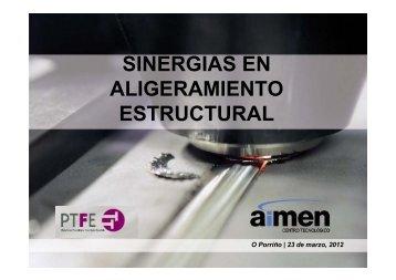 sinergias en aligeramiento estructural - Plataforma Tecnológica ...