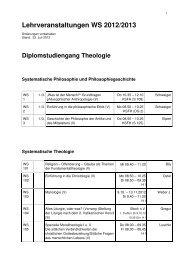 Lehrveranstaltungen WS 2012/2013 - Philosophisch-Theologische ...