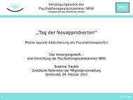 Was ist das Versorgungswerk? - Psychotherapeutenkammer NRW