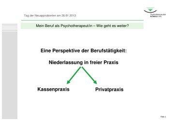 Mein Beruf als Psychotherapeut/in – Wie geht es weiter? Teil 1