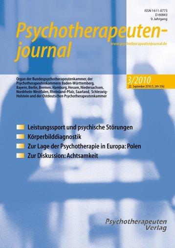 journal Psychotherapeuten - Psychotherapeutenkammer NRW
