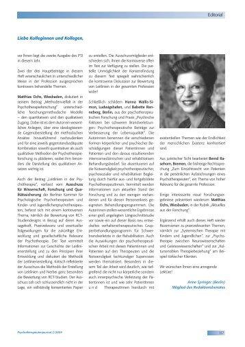 Editorial - Psychotherapeutenkammer NRW
