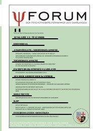 ausgabe 14 / Mai 2006 - Psychotherapeutenkammer des Saarlandes