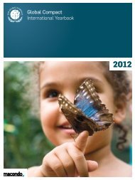 Global Compact International Yearbook 2012