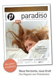 paradiso Neue Horizonte, neue Kraft: Das Magazin zum Weiterdenken