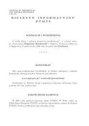 nr 2/2001 - Polskie Towarzystwo Mechaniki Teoretycznej i Stosowanej