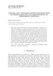 COUPLED AND UNCOUPLED CONSTITUTIVE EQUATIONS OF ...