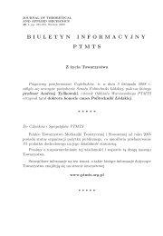 nr 1/2009 - Polskie Towarzystwo Mechaniki Teoretycznej i Stosowanej